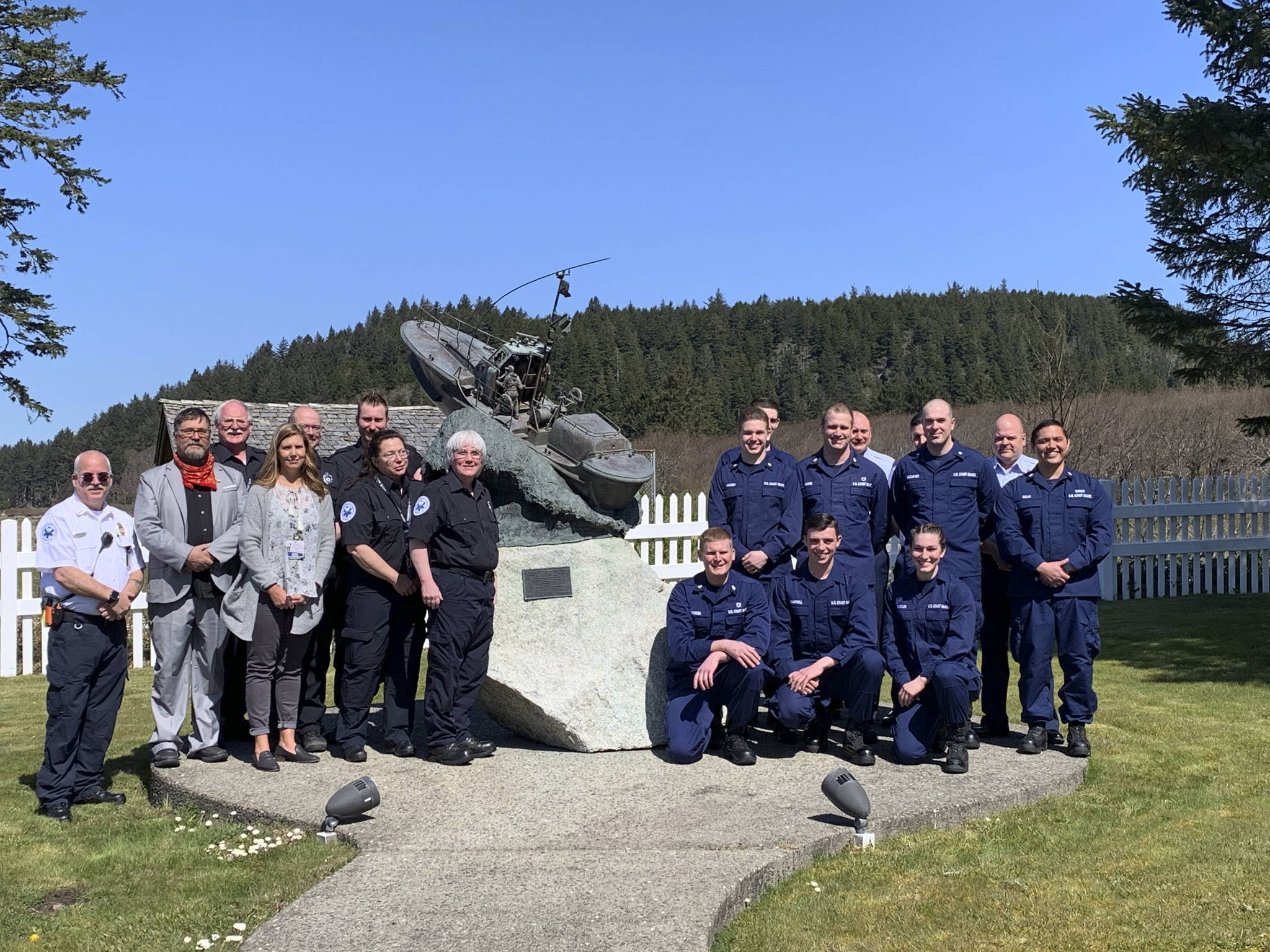 Forks Ambulance crew and USCG Station Quillayute River were recognized by Homeland security for recently saving lives.